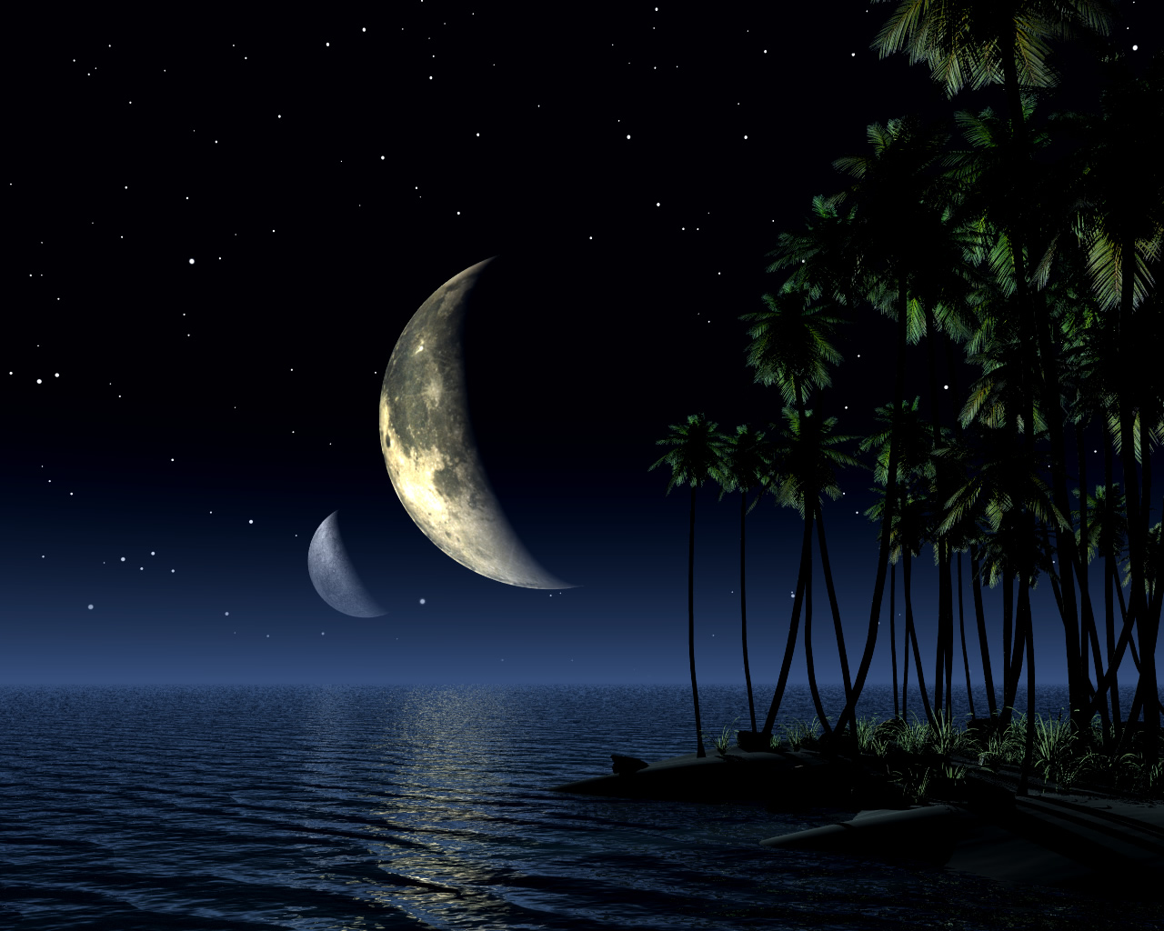 3d Moon At Night Wallpaper 3d Flying Horse Wallpaper 3d Forrest