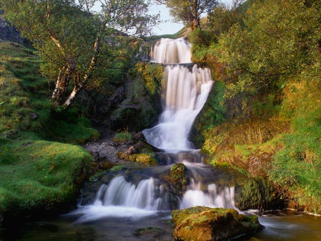Waterval in de natuur
